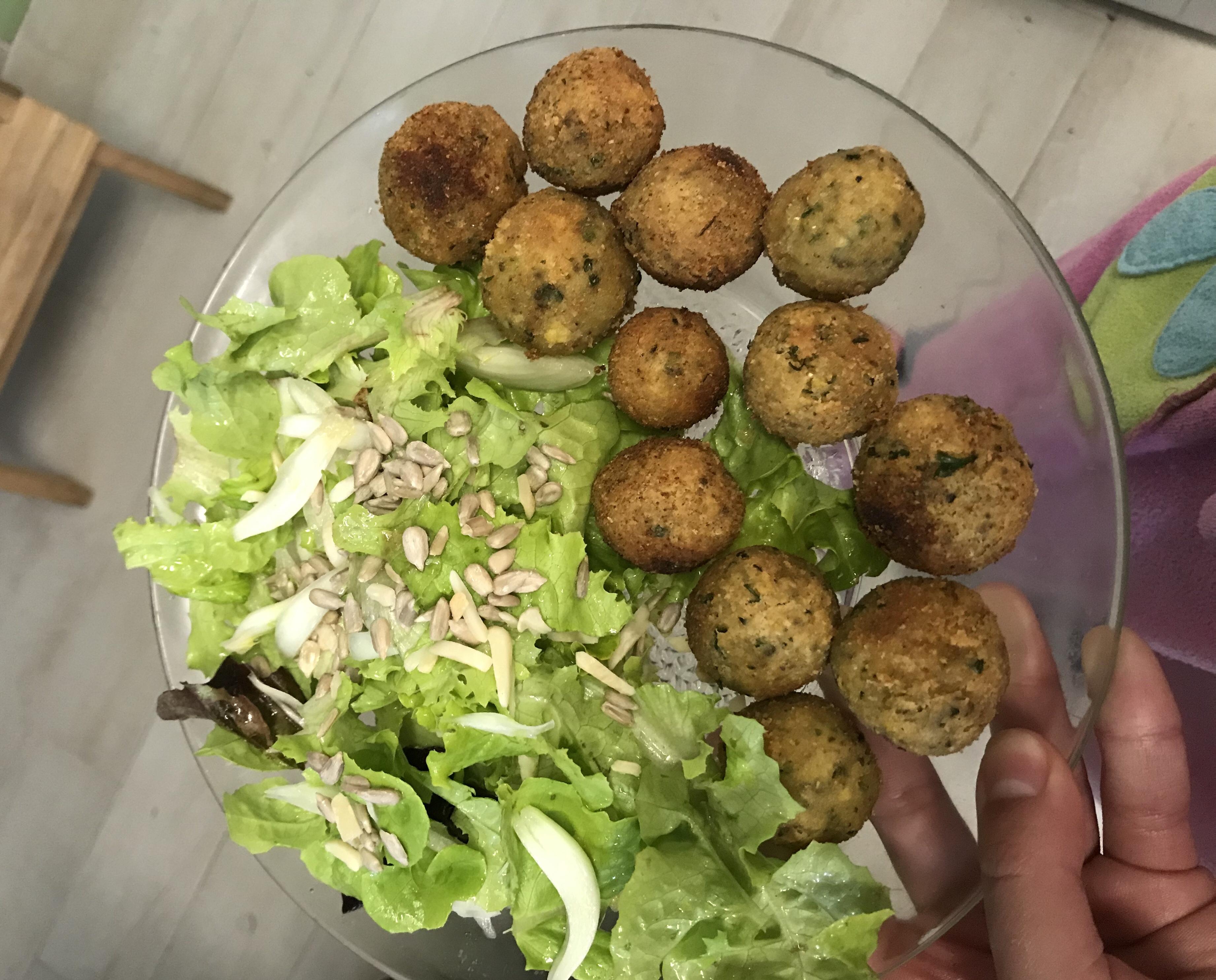 Receita de deliciosos croquetes vegan de tremoço e gão.