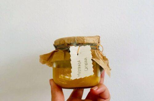 frasco de mostarda caseira