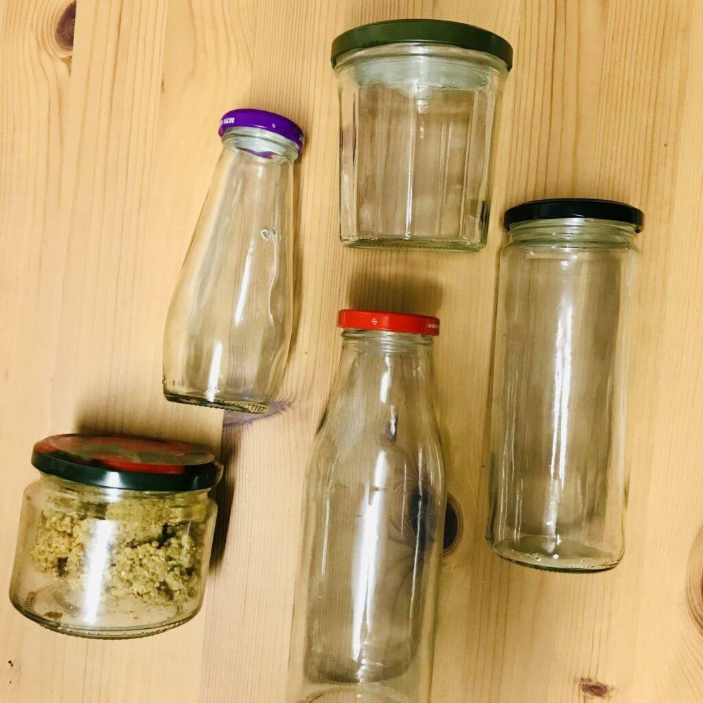 armazenar alimentos em frascos de vidro - vários tipos de frasco